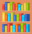 books on shelves flat vector image vector image