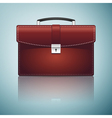 Briefcase red business icon isolated on blue vector image