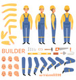 builder character animation body parts head arms vector image vector image