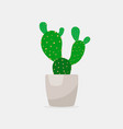cactus color flat icon for web and mobile vector image vector image