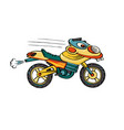 cartoon bike with head vector image