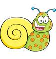 Cartoon happy snail vector image