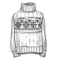 christmas sweater knitwear isolated sketch vector image