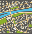 city navigation map with symbols streets vector image
