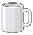 coffee mug - white cup vector image vector image