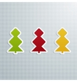 Colored Fir-Trees Set of Five vector image vector image