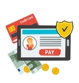 concept easy online payment Icon vector image vector image