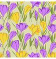 crocus seamless pattern 2 purple yellow vector image vector image