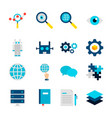 deep learning objects vector image