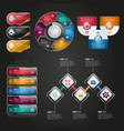 digital business infographic design vector image vector image