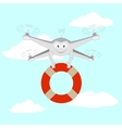 Drone Rescue on the water vector image vector image
