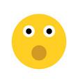 emoji surprise face vector image