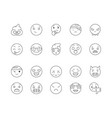 emotions line icons signs set outline vector image vector image