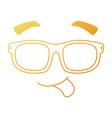 face emoji with sunglasses kawaii character vector image vector image