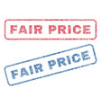 fair price textile stamps vector image vector image