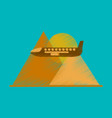 flat icon in shading style plane in the mountains vector image