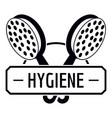 hygiene shower logo simple black style vector image