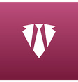 icon flat necktie shaded tie style vector image
