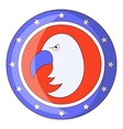 Independence day eagle icon cartoon style vector image vector image