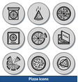light pizza icons vector image vector image