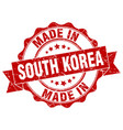 made in south korea round seal vector image vector image