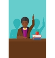 Man raising his hand vector image vector image