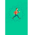 Man running inside the gear vector image vector image
