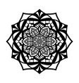 mandala vintage isolated on white background vector image