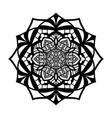 mandala vintage isolated on white background vector image vector image