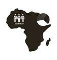 map africa with covid19 19 information and icons vector image vector image