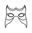 monochrome silhouette of festival mask vector image vector image