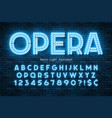 neon light 3d alphabet led extra glowing font vector image