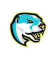 north american river otter mascot vector image vector image
