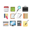 office related icons vector image