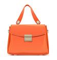 orange female handbag vector image vector image