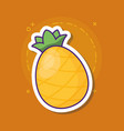 pineapple fruit icon vector image vector image