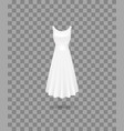 realistic detailed 3d women dress mock up vector image vector image