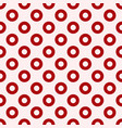 red circles seamless pattern vector image vector image