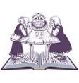 russian fairy tale hen ryaba open book vector image vector image