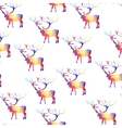 Seamless background with geometric deer vector image vector image