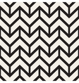 Seamless Black And White Chevron ZigZag vector image vector image