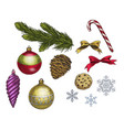set of colorful christmas elements vector image vector image