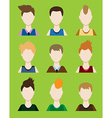 Set of Male avatar or pictogram for social vector image vector image