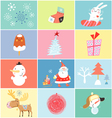set of objects and images of the new year vector image vector image