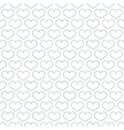 Simple seamless pattern with heart symbol vector image vector image