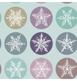 Snowflake winter set icon collection seamless vector image vector image