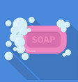 soap flat icon vector image vector image