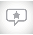 Star grey message icon vector image vector image