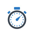 stopwatch glyph icon vector image