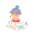 summer girls vector image vector image
